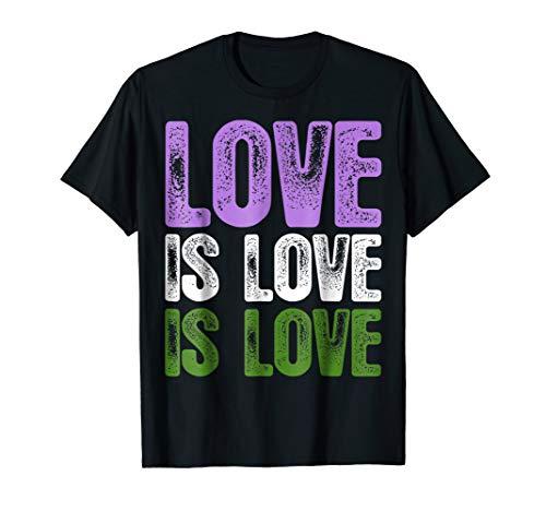 Love is Love is Love Genderqueer Pride T-Shirt