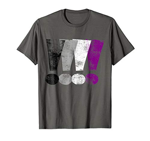 Distressed Asexual Pride Exclamation Points T-Shirt