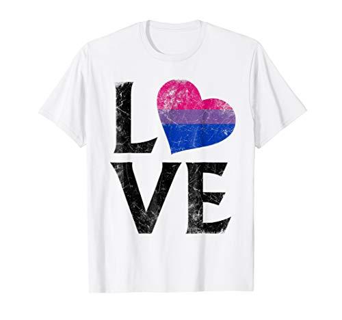 Bisexual Pride Flag Heart Love T-Shirt