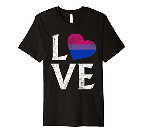 Bisexual Pride Flag Heart Stacked Love Premium T-Shirt