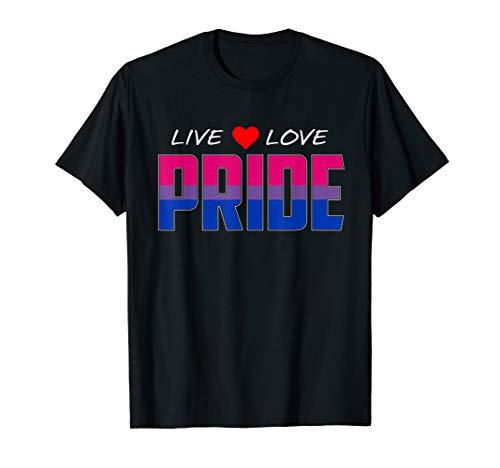 Live Love Pride - Bisexual Pride Flag T-Shirt
