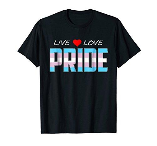Live Love Pride - Transgender Pride Flag T-Shirt