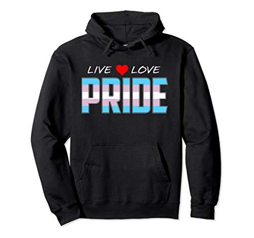 Live Love Pride - Transgender Pride Flag Pullover Hoodie