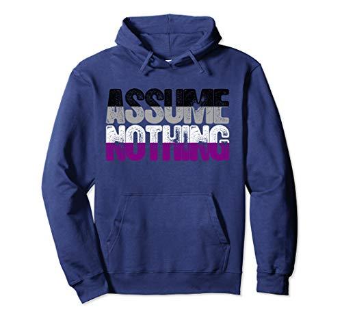 Assume Nothing Asexual Pride Pullover Hoodie