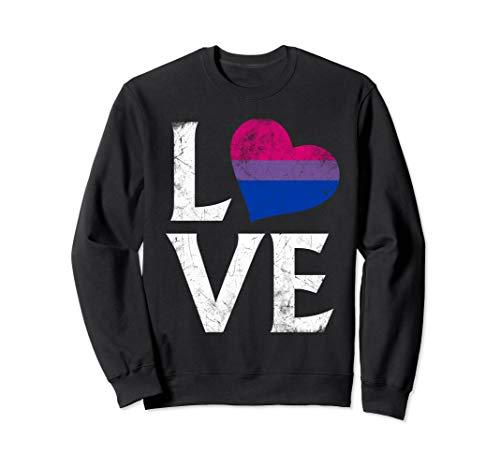 Bisexual Pride Flag Heart Stacked Love Sweatshirt