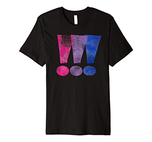 Distressed Bisexual Pride Exclamation Point Premium T-Shirt