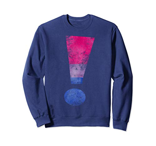 Distressed Bisexual Pride Exclamation Point Sweatshirt