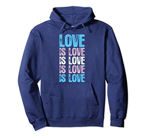 Love is Love is Love Transgender Pride Pullover Hoodie