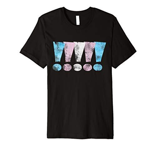 Transgender Pride Exclamation Points Premium T-Shirt