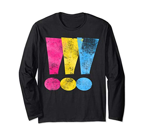 Pansexual Pride Exclamation Points Long Sleeve T-Shirt