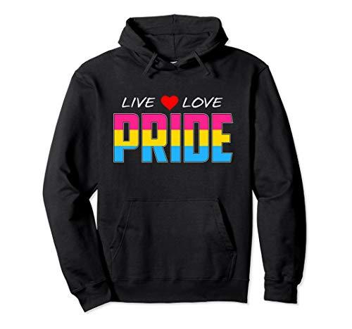 Live Love Pride - Pansexual Pride Flag Pullover Hoodie