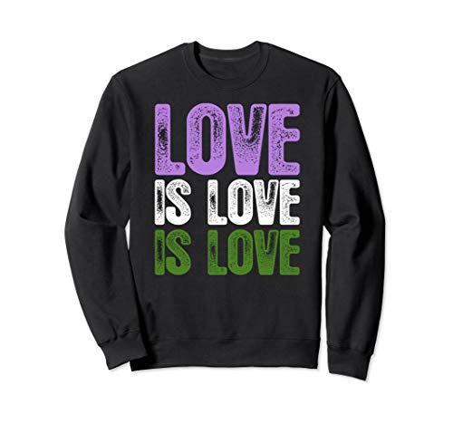 Love is Love is Love Genderqueer Pride Sweatshirt