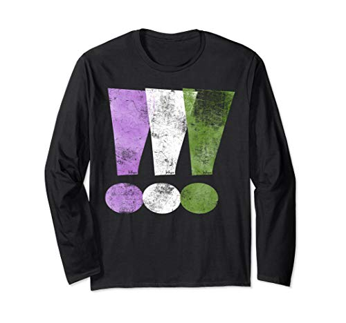 Genderqueer Pride Exclamation Points Long Sleeve T-Shirt