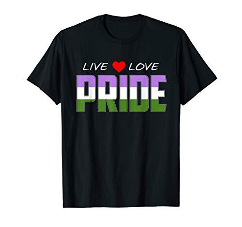 Live Love Pride - Genderqueer Pride Flag T-Shirt