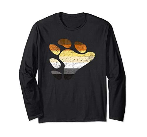 Gay Bear Pride Flag Claw Print Long Sleeve T-Shirt