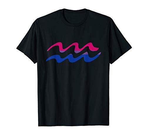 Bisexual Pride Flag Aquarius Zodiac Sign T-Shirt