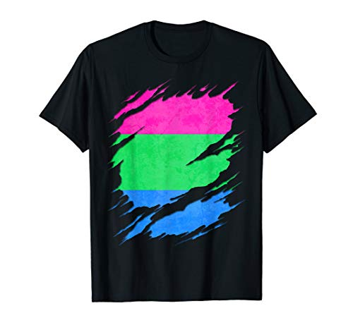 Polysexual Pride Ripped Reveal T-Shirt