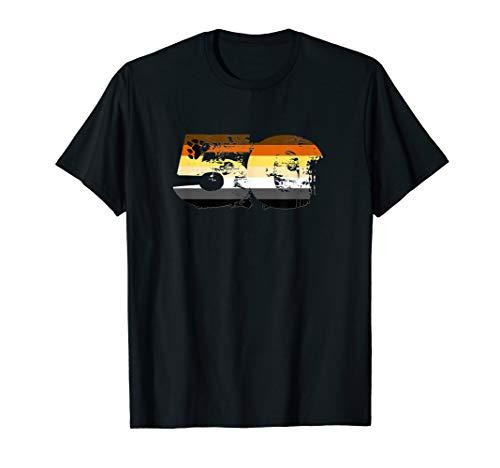 Gay Bear Grunge 50 Pride Flag T-Shirt