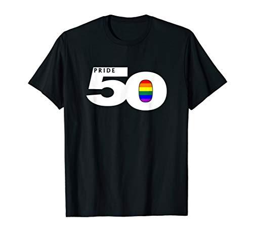 Pride 50 LGBTQ Gay Pride Flag T-Shirt