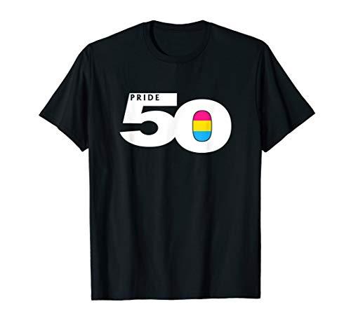 Pride 50 Pansexual Pride Flag T-Shirt