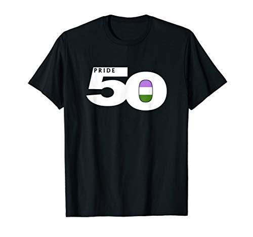 Pride 50 Genderqueer Pride Flag T-Shirt