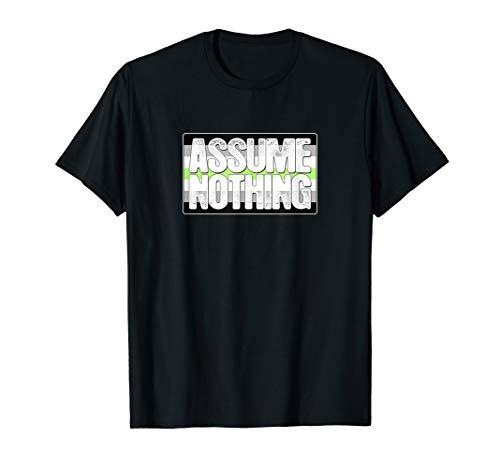 Assume Nothing Agender Pride Flag T-Shirt