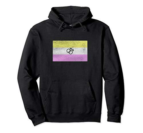 Distressed Gay Twink Pride Flag Pullover Hoodie