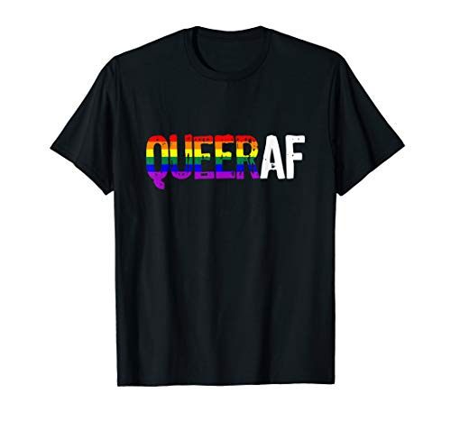 QUEER AF Queer as Fuck LGBTQ Pride T-Shirt