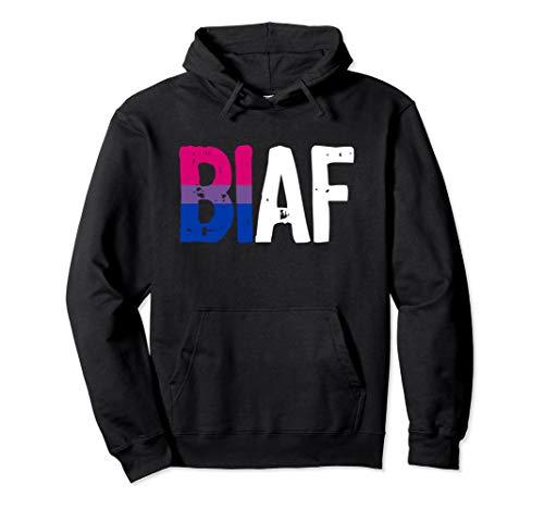 BI AF Bi as Fuck Bisexual Pride Flag Pullover Hoodie