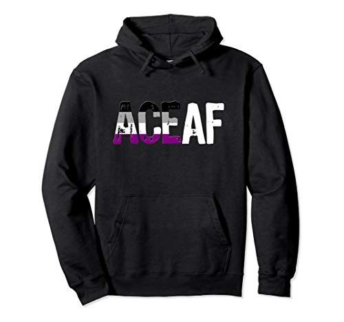 ACE AF Ace as Fuck Asexual Pride Flag Pullover Hoodie