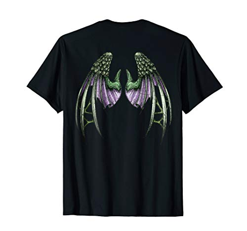 Distressed Green and Purple Dragon Wings T-Shirt