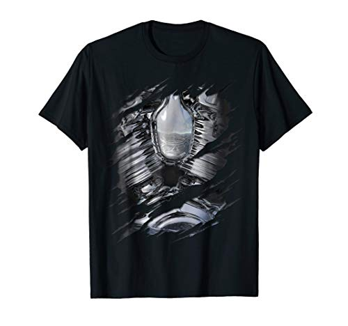 Chrome Engine Robot Costume Ripped T-Shirt