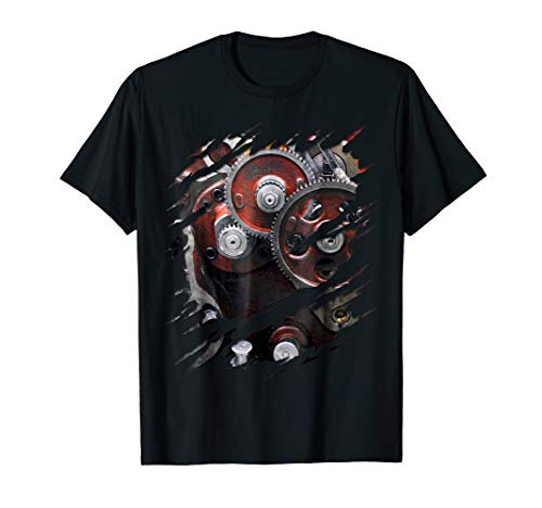 Engine Gears Robot Costume Ripped T-Shirt