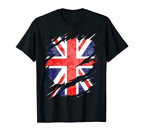 UK Union Jack Flag Ripped Reveal T-Shirt