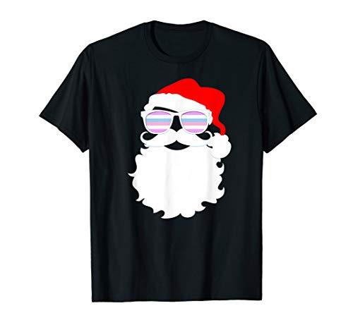Santa Claus Bigender Pride Flag Sunglasses T-Shirt