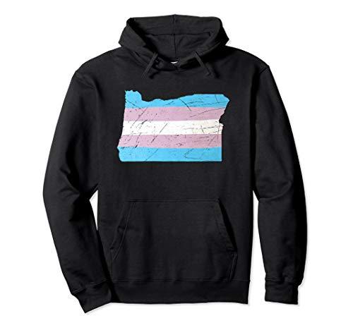 Oregon Transgender Pride Flag Pullover Hoodie