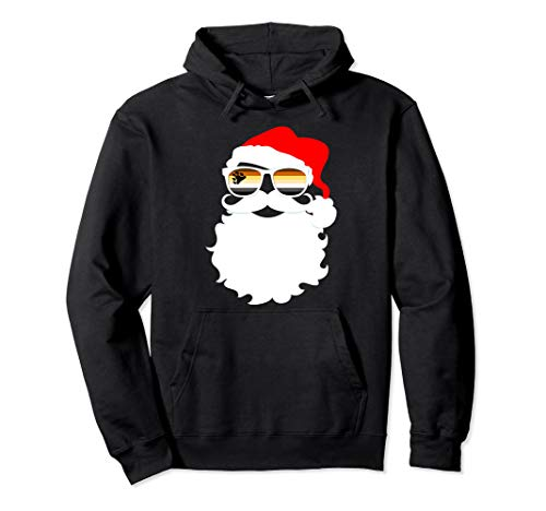 Santa Claus Gay Bear Pride Flag Sunglasses Pullover Hoodie