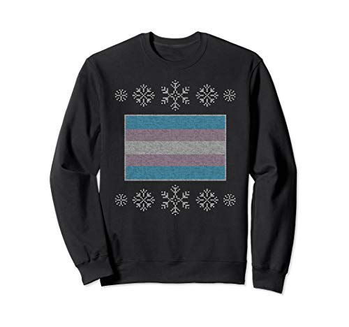 Ugly Christmas Transgender Pride Flag Sweatshirt