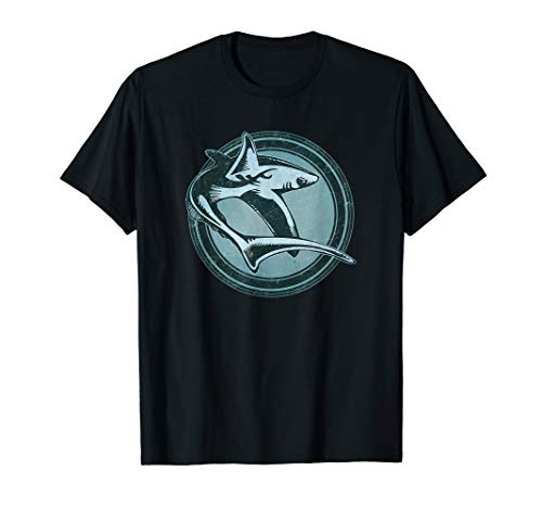 Distressed Wild Shark Stamp T-Shirt