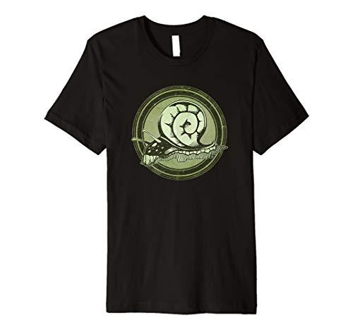 Distressed Wild Snail Stamp Premium T-Shirt