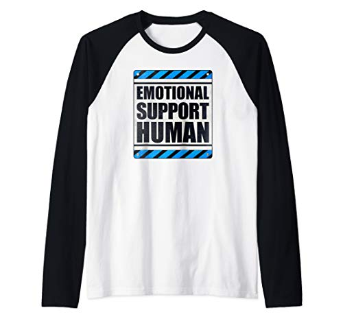 Emotional Support Human Raglan Baseball Tee