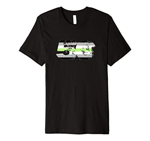 Agender Grunge 50 Pride Flag Premium T-Shirt