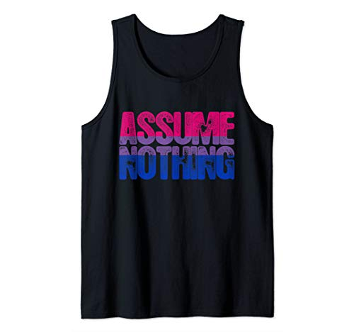 Assume Nothing - Bisexual Pride Tank Top