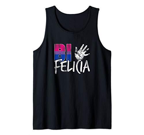 Bi Felicia Funny Bisexual Pride Flag Tank Top
