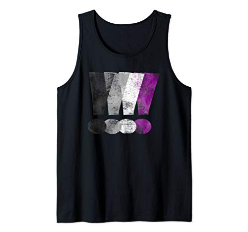 Distressed Asexual Pride Exclamation Points Tank Top