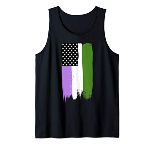 Genderqueer Pride Flag Stars and Stripes Flag Tank Top