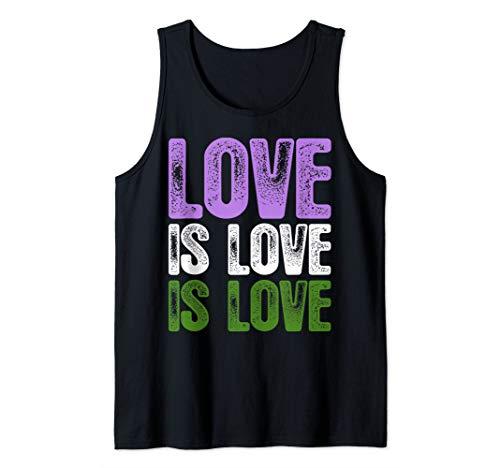 Love is Love is Love Genderqueer Pride Tank Top
