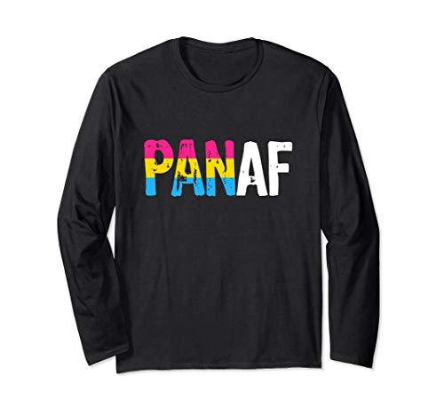 PAN AF Pan as Fuck Pansexual Pride Flag Long Sleeve T-Shirt