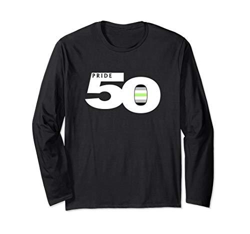 Pride 50 Agender Pride Flag Long Sleeve T-Shirt
