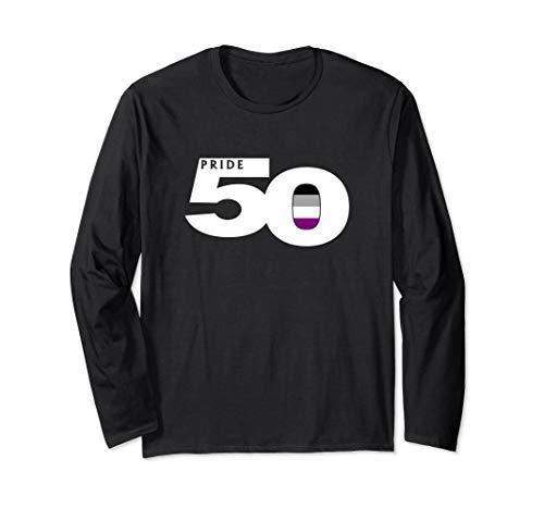 Pride 50 Asexual Pride Flag Long Sleeve T-Shirt